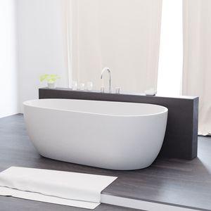 Freistehende Badewanne 175 x 90 x 63 cm, Acrylwanne Standbadewanne, Sanitäracryl Dia, weiß