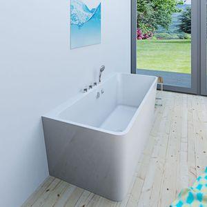 AcquaVapore freistehende Badewanne Wanne Acryl FSW05 170 x 80 x 58 cm Armatur wählbar Komfort-Armatur +130.-€