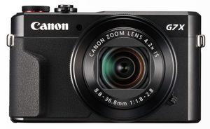 Canon Powershot G7 X MARK II 20,1 Megapixel Full HD Kompaktkamera, 4-fach optischer/4-fach digitaler Zoom, 24 - 100 mm Brennweite, optischer Bildstabilisator, 13,2 x 8,8 mm CMOS-Sensor, F1,8 (W) - F2,8 (T), 7,62 cm (3 Zoll) Display, Touchscreen, WLAN, HDMI, Gesichts- und Lächelerkennung