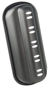 Zenker Stollen-Backform (31 x 7 x 15 cm) SPECIAL SEASON, Stollenhaube mit Antihaftbeschichtung, Backblech für Stollen (Farbe: Schwarz), Menge: 1 Stück