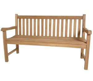 KMH®TEAK Gartenbank 3-Sitzer *Classic* B 150 x H 92,5 x T 52 cm, Teakholz