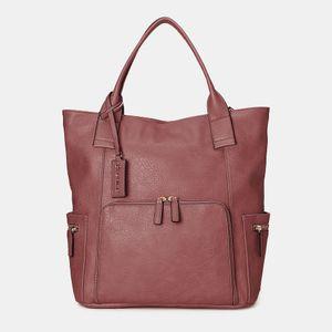 Damen Multifunktion Grosse Kapazität Umhängetasche Rucksack Handtasche Schultertasche Farbe: Weinrot