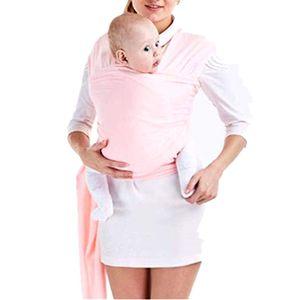 Tragetuch Baby elastisch für Neugeborene und Kleinkinder, Babytragetuch Kindertragetuch Baby Bauchtrage Sling Tragetuch für Baby Neugeborene Innerhalb 16 KG von (Pink)