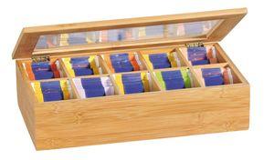 KESPER Teebox Tee-Box mit 10 Fächern aus -em Bambus 58901