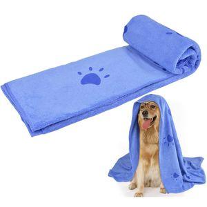 Hundehandtuch, Großer Weich Hunde Bademantel Handtuch Microfiber Schnelltrocknend Warm Haustierhandtuch für Hunde Katzen 70 * 140 cm
