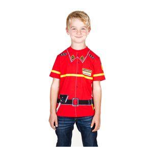 Kid's Shirt 5602 Feuerwehr Kinder T-Shirt, Größe 116, 100% Baumwolle, rot