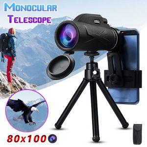 Professionelles tragbares Monokular-Teleskop mit 80x100-Vergrößerung Fernglas Zoom Handheld Military HD-Jagdteleskop