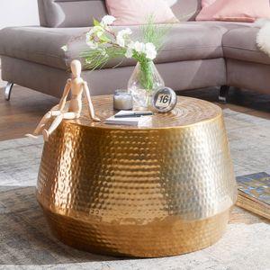 Couchtisch MAHESH 60x36x60 cm Aluminium Beistelltisch Gold