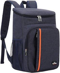 Kühltaschen, Picknickrucksäcke, 18L Kühlrucksack Groß 28 Dosen Picknickrucksäcke,Wasserdichten Ultraleicht Isoliert Cooler Bag Männer Frauen für Camping,BBQ,Wandern,Picknick-Navy Blue