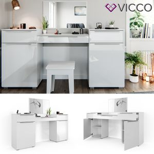 Vicco Schminktisch Lilli Frisiertisch Kommode Frisierkommode Spiegel Weiß