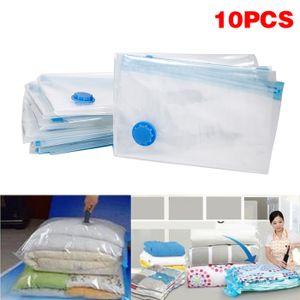10 Stück Vakuumbeutel Aufbewahrungsbeutel Reise Vakuum Wiederverwendbar Kleiderbeutel für Kleidung Bettdecken Bettwäsche Kissen-OV