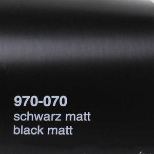 (15,78€/m²) Oracal 970RA Autofolie 070 Schwarz Matt Folie 152 cm Breite Laufmeterware gegossene Auto Folie selbstklebend