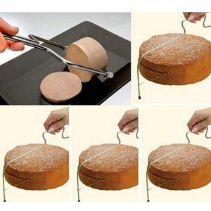 3 x Edelstahl Tortenbodenschneider Tortenschneider Tortenteiler für Kuchen, Torten, Kekse, Käse