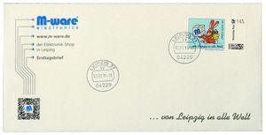 FDC mit 145-Cent Marke 'Ostern blau', 2015, ungel. M-ware® ID15670