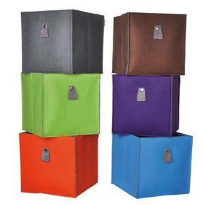 Atlanta - Filzbox, Aufbewahrungsbox, Regaleinsatz 34x34x34cm, faltbar, in verschiedenen Farben