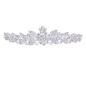 Silber Braut Krone Diadem Tiara Haarreif Haarstecker Hochzeit Haarschmuck, passt an allen Haarstyling