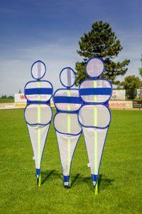 The Soccer Wall® - Blau/Weiss- Fußball Trainings Puppe - Trainingsdummie von POWERSHOT® - Fußball Dummies - 1 Stück