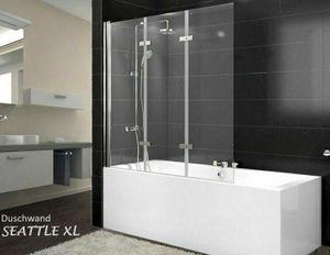 Nano Glas Duschabtrennung XL Badewanne Faltwand Duschwand Badewannenfaltwand ESG
