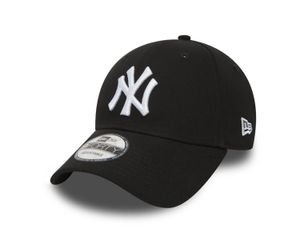 New Era 9Forty Cap - New York Yankees schwarz / weiß