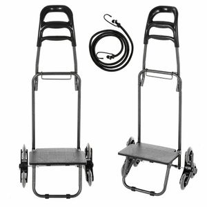 Transportkarre Treppensteiger, Stapelkarre Treppen Sackkarre, Sackkarre klappbar Transportkarre mit Expanderseilen verstellbare Griffhöhe