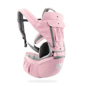 Ergonomische Babytrage Infant Kid Baby Sling Vorderseite mit Blick auf Kangaroo Baby Wrap Carrier für Babyreisen 0-36 Monate (Farbe: Rosa)