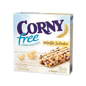 Corny free weiße Schokolade 6 einzelne Müsliriegel ohne Zucker 120g