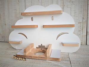 """Regal für tonie ® Audiosystem, passend für passend für Tonie-Regal, Toniebox Regal """"Wolke"""" von MagHolz"""