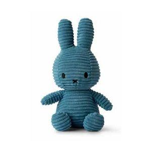 Miffy Cord-Plüschfigur (petrolblau, 24cm) Kuscheltier Stofftier Hase Plüschtier