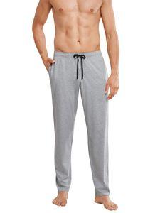 Schiesser Herren lange Schlafanzughose Loungehose Lang - 163840, Größe Herren:52, Farbe:grau-melange