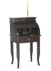 SIT Möbel Sekretär mit Rollladen | 4 Schubladen, 5 offene Fächer | Akazie-Holz antikfinish | B 55 x T 41 x H 100 cm | 09853-30 | Serie SAMBA