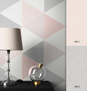 Tapete Geometrisch Rosa Papier  Retro  Grafisch Dreiecke   Norfolk Muster