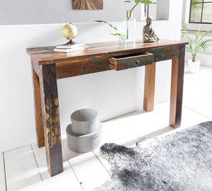WERAN Konsolentisch  Massivholz Schreibtisch mit Schubalde | Anrichte Schlafzimmer Shabby-Chic