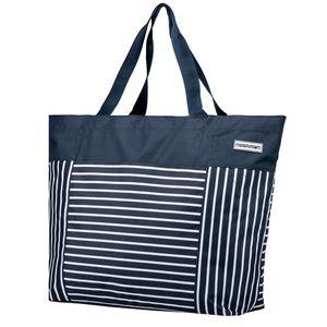 anndora XXL Shopper blau weiß gestreift AHOI - Blau-Weiß
