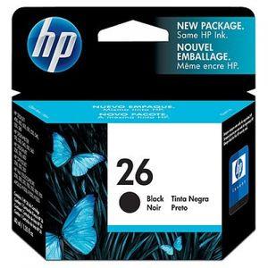 HP 26 Black, Schwarz, Tintenstrahl