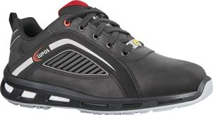 LUPOS Sicherheitsschuh Marra Größe 44 schwarz S3 SRC ESD EN ISO 20345 Pull-Up Leder, wasserabweisend