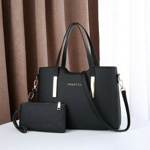 Leder Damentasche Shopper Handtasche Schultertasche Damentaschen Groß Schwarz