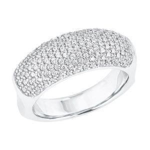 JOOP! Damen 925 Sterling Silber Ring mit Zirkonia in silberfarben - 20269, Ringgröße (Durchmesser):56 (17.8 mm Ø)