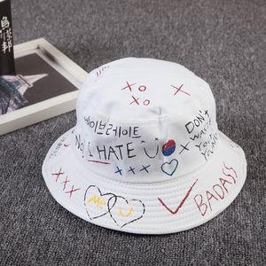 Unisex Bucket Hat Angeln Außen Hip Hop Cap Männer Sommer für Fischer-Hut -(weißer Hut,Einheitsgröße)