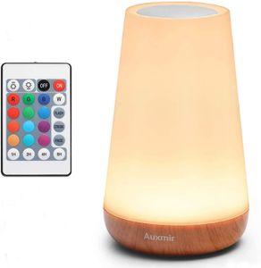 LED Nachttischlampe Touch-Sensor-Steuerung Leseleuchte RGB Tischlampe 13 Farben und Farbwechsel Berührungssensitives