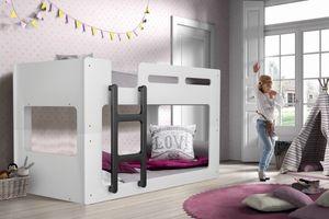 Vipack - Luca halbhohes Bett 90 x 200 cm Liegefläche, Weiß