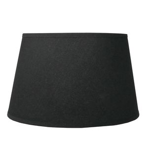 Lampenschirm für E14 E27 Fassungen Schwarz Leinenoptik 19 cm  Polyester/Baumwolle