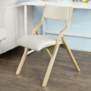 SoBuy® Klappstuhl, Küchenstuhl, mit gepolsterter Sitzfläche und Lehne, weiß, FST40-W