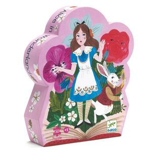 DJECO Silhouette Puzzle 50 Teile: Alice im Wunderland