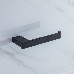 Toilettenpapierhalter schwarz Klopapierhalter 304 Edelstahl Gebürstetes Klorollenhalter Rollenhalter Bad Papierhalter Wandhalterung