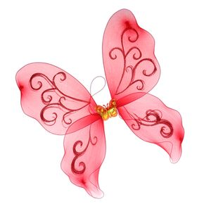 Fee Prinzessin Party Schmetterling Flügel für Mädchen verkleiden sich rot 44 cm × 43,5 cm × 0,2 cm