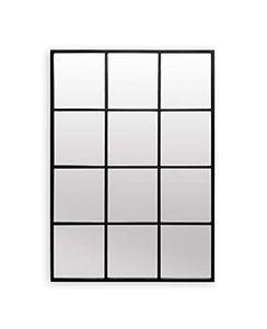 Antic by Casa Chic Fenster Spiegel - 90 x 60 cm Wandspiegel - Schwarz