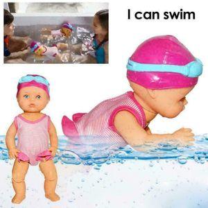 1 Stück Schwimmende Puppe Badepuppe Frühen Pädagogisches Kinderspielzeug (3x AAA-Batterien (ohne Versand))