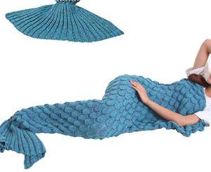 """Meerjungfrau Decke, Fisch Skala Muster alle Jahreszeiten Schlafsack 190x90cm (74.86""""x35.46)"""
