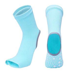 1 Paar Yoga-Socken für Damen Farbe Grün
