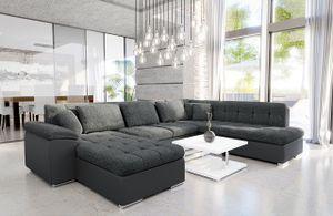 Mirjan24 Ecksofa Niko Bis, Bettkasten und Schlaffunktion, Sofa vom Hersteller, Wohnlandschaft, Polstergarnitur (Soft 020 + Majorka 03, Seite: Links)